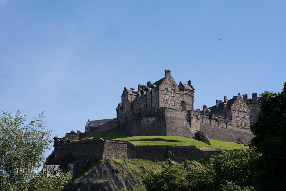 Edinburgh Castle from Lothian Road area